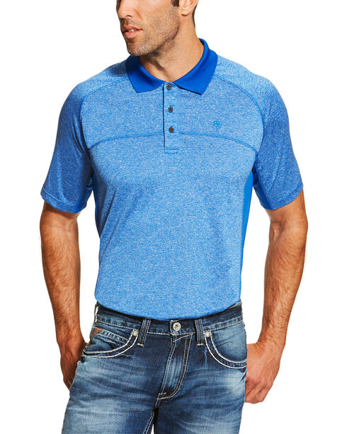 Ariat Men's Charger Polo Shirt, Blue, hi-res