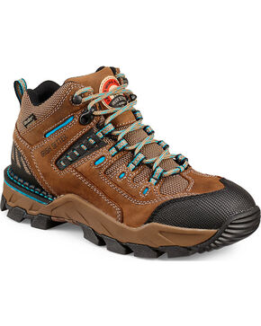 Red Wing Irish Setter Two Harbors Hiker Work Boots - Soft Toe , Brown, hi-res