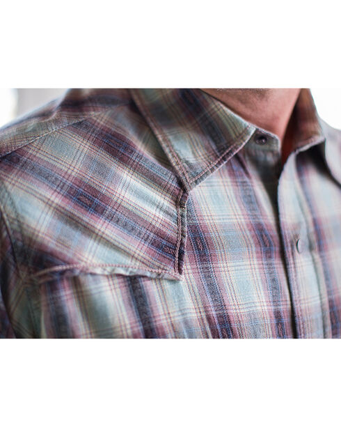 Ryan Michael Men's Vintage Dobby Plaid Shirt, Sage, hi-res