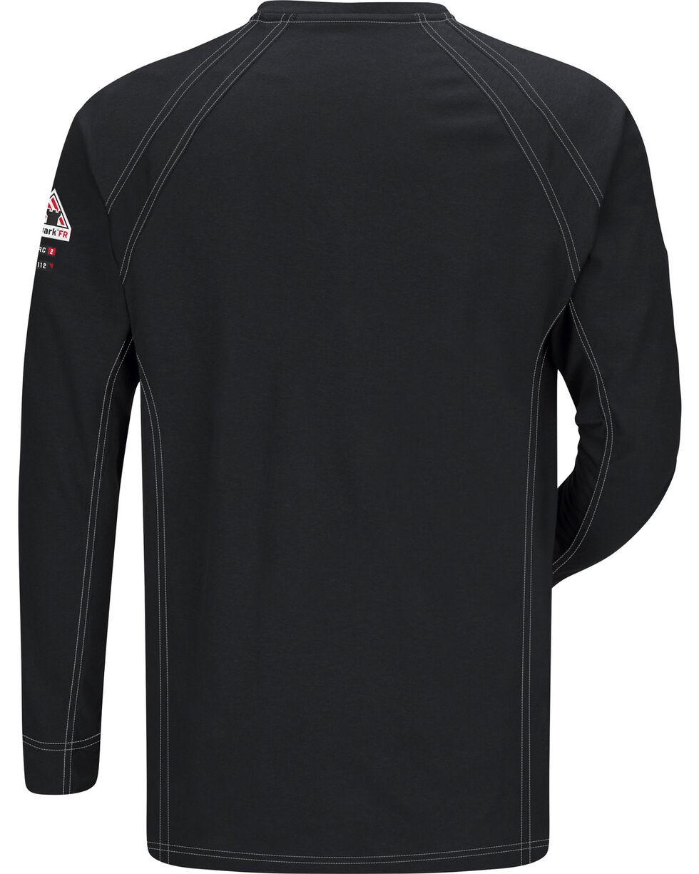 Bulwark Men's Black iQ Series Flame Resistant Henley Shirt - Big & Tall, Black, hi-res