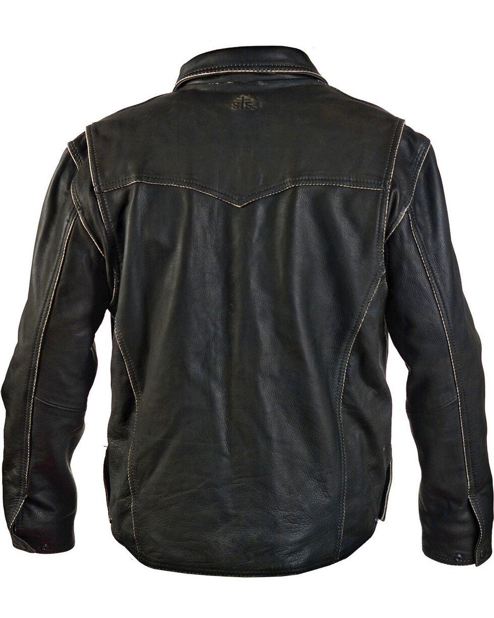 STS Ranchwear Men's Vegas Black Leather Jacket, Black, hi-res
