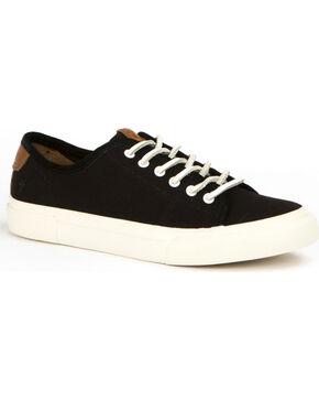 Frye Women's Black Gia Canvas Low Lace Shoes , Black, hi-res