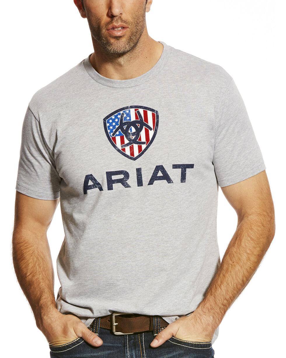 Ariat Men's Grey Liberty USA Tee , , hi-res