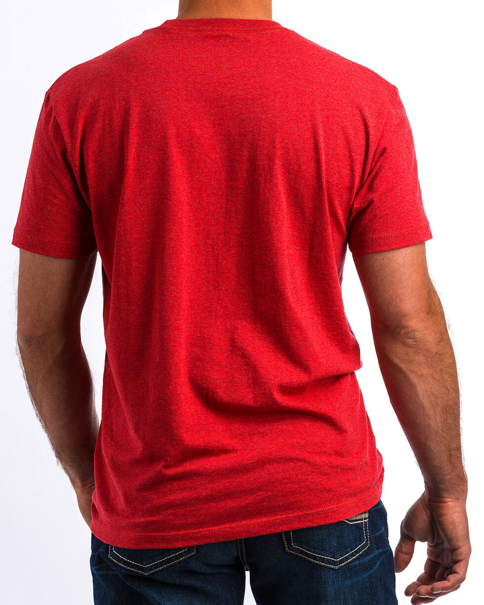 Cinch Men's The American Brand Graphic T-Shirt, Red, hi-res