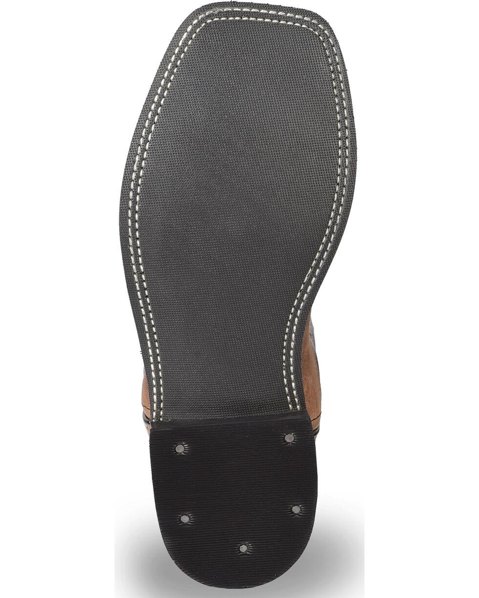 Old West Boy's Light Black Calf Leather Boots - Square Toe , Light Brown, hi-res