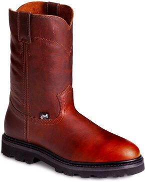 "Justin Men's 10"" JOW Work Boots, Tan, hi-res"