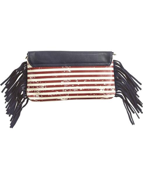 Shyanne® Women's American Flag Crossbody Bag, Blue, hi-res