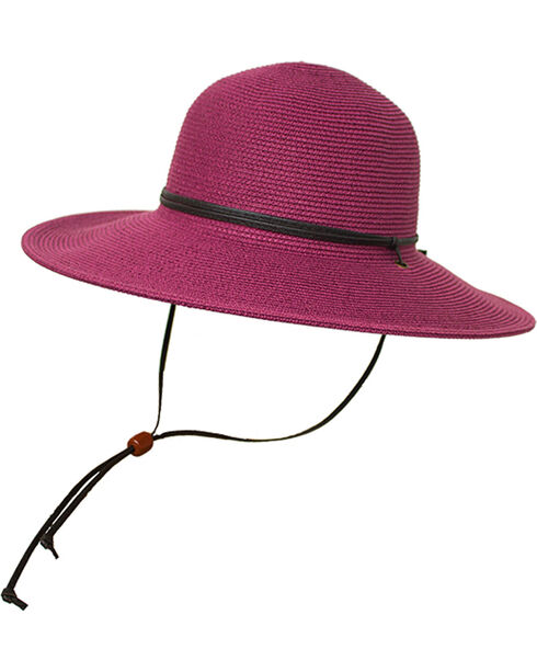 Peter Grimm Women's Lilac Coralia Straw Hat , Light Purple, hi-res