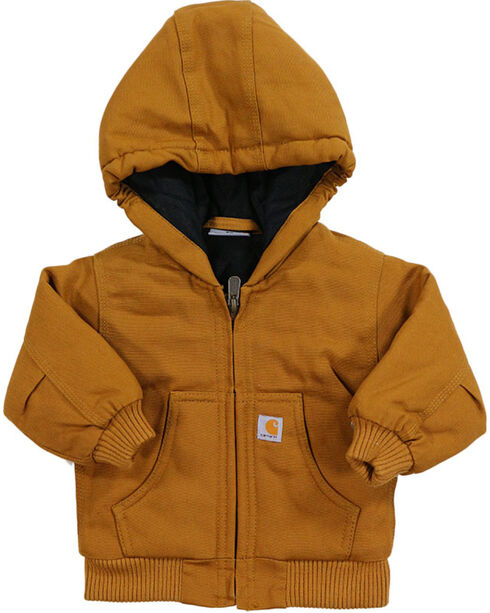 Carhartt Kid's Cotton Duck Active Jacket, Brown, hi-res