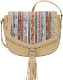 Bandana by American West Women's Boho Denim Flap Crossbody Bag, , hi-res