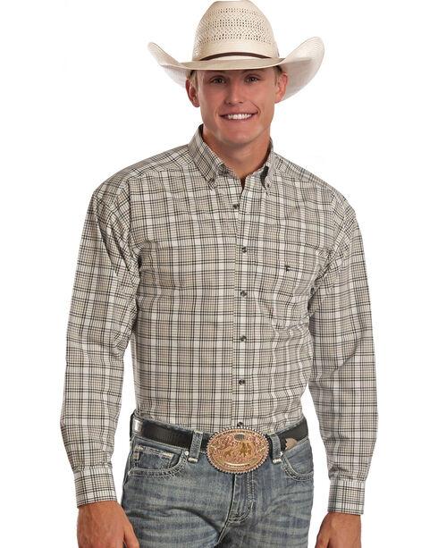 Tuf Cooper Men's Plaid Long Sleeve Shirt, Plaid, hi-res
