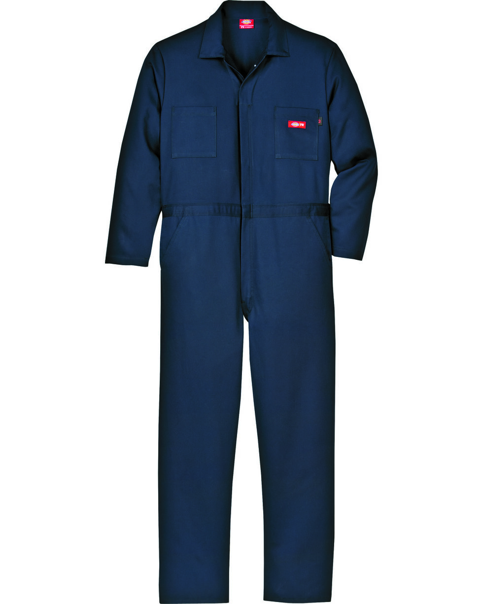 Dickies Flame Resistant Twill Coveralls, Navy, hi-res