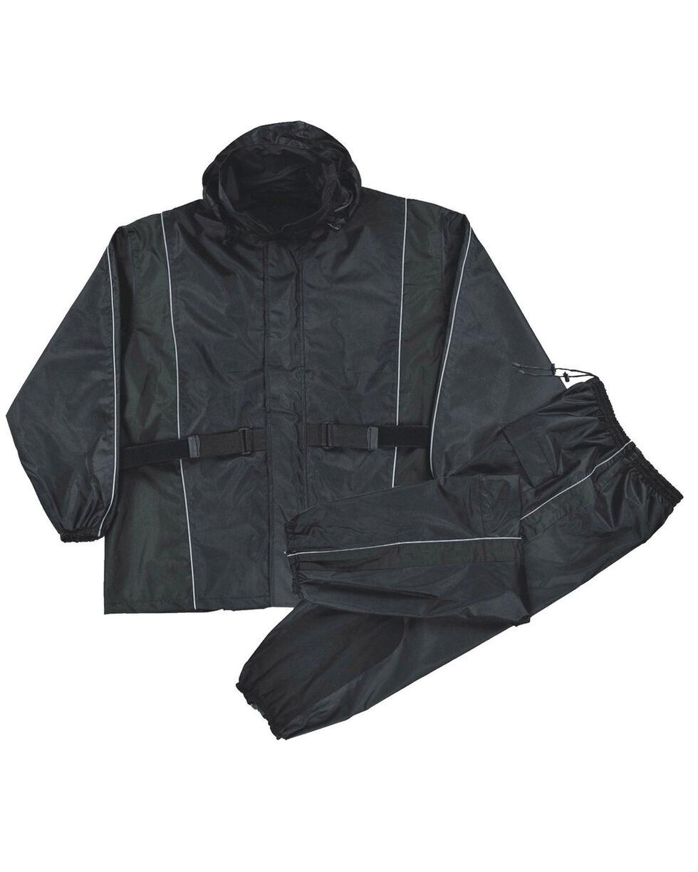 Milwaukee Leather Men's Reflective Heat Guard Waterproof Rain Suit - 4X, Black, hi-res