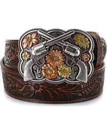 Justin Women's Bandit Queen Leather Belt, , hi-res