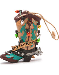 BB Ranch Light Wrapped Yellow Boot Ornament , , hi-res