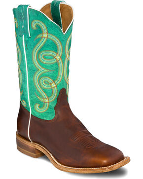 Tony Lama Women's Faded Ranch Americana Western Boots, Green, hi-res