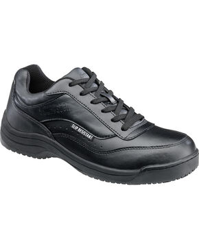 SkidBuster Men's Slip Resistant Work Shoes, Black, hi-res