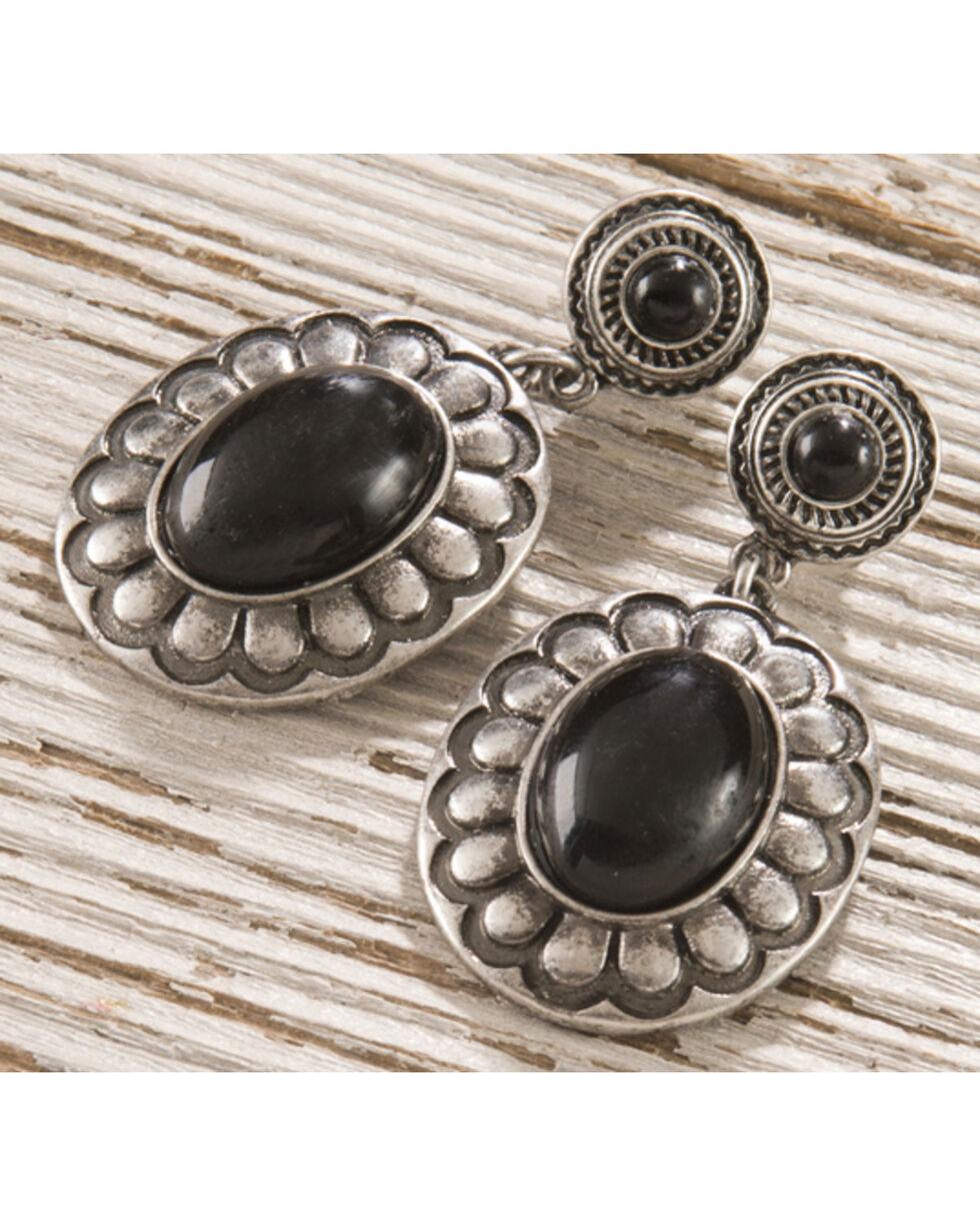 Shyanne® Women's Floral Concho Earrings , Silver, hi-res