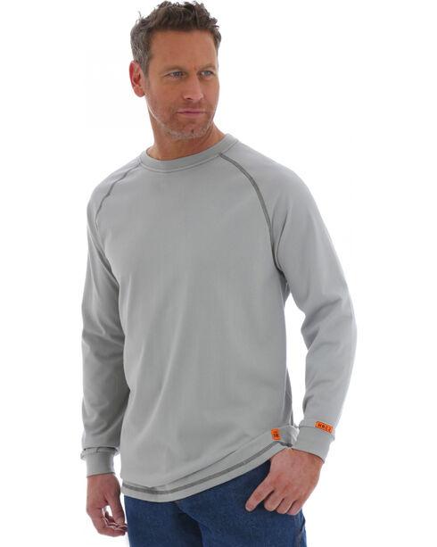 Wrangler Men's Flame Resistant Long Sleeve Work Shirt, Grey, hi-res