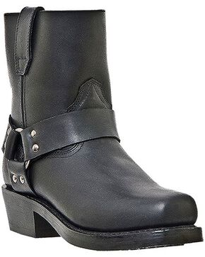 Dingo Rev Up Zipper Motorcycle Boots - Snoot Toe, Black, hi-res