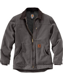 Carhartt Men's Grey Sandstone Ridge Coat - Tall , Grey, hi-res