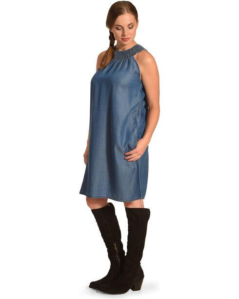 Given Kale Women's Indigo Sleeveless Tencel Dress , Indigo, hi-res