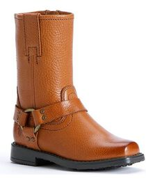 Frye Girls' Harness Pull-on Boots, , hi-res