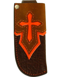 Nocona Brown Cross Western Knife Sheath , , hi-res