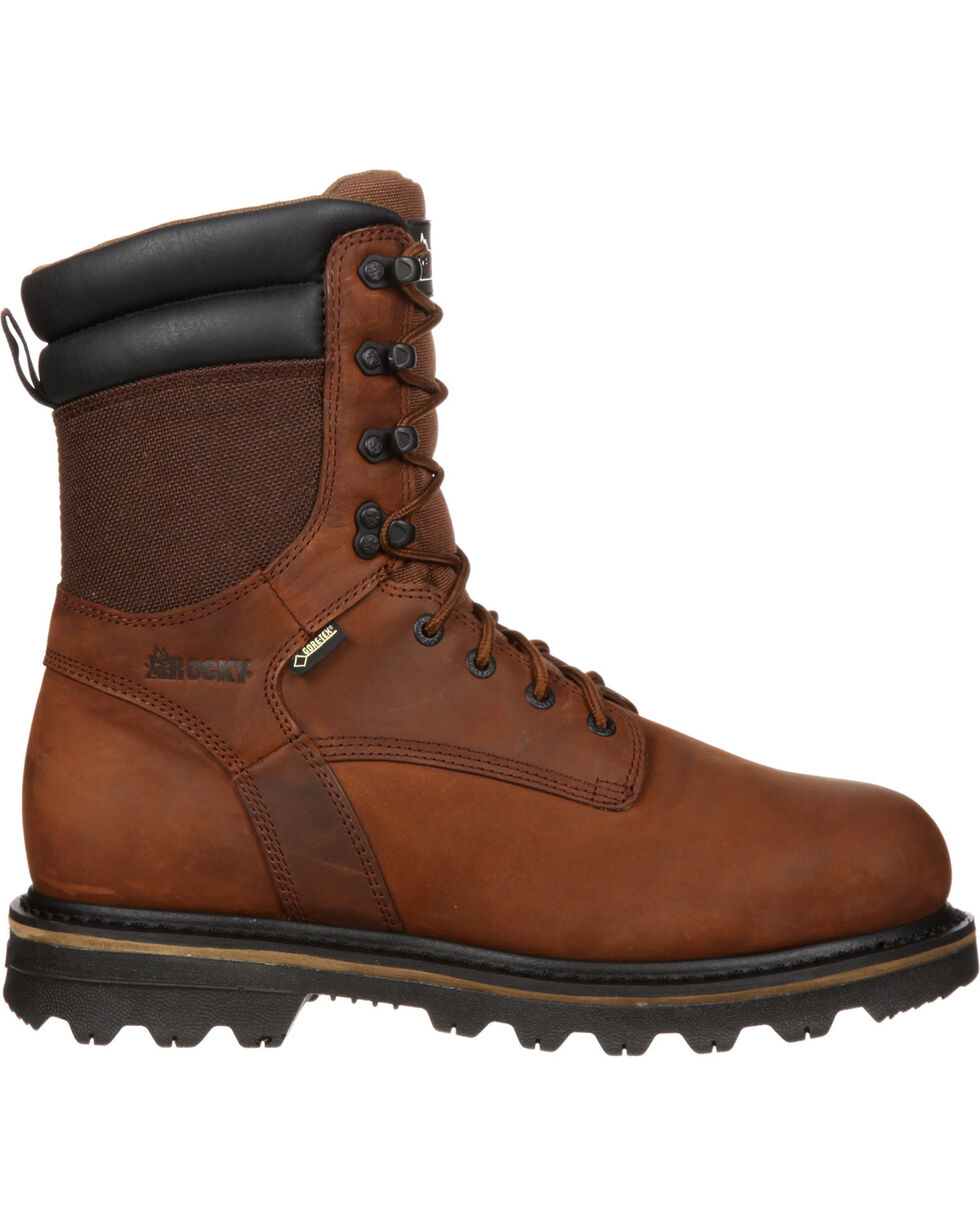 "Rocky 9"" Cornstalker Gore-Tex Waterproof Outdoor Boots - Round Toe, Brown, hi-res"