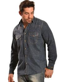 Ryan Michael Men's Double-Dye Paisley Shirt, , hi-res