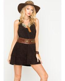 MI.OH.MI. Women's Suede Sleeveless Dress, , hi-res