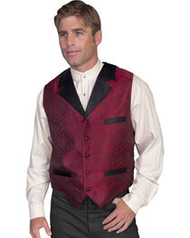 Rangewear by Scully Paisley Vest, Red, hi-res