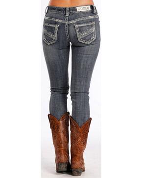 Rock & Roll Cowgirl Women's Indigo Mid-Rise Jeans - Skinny , Indigo, hi-res