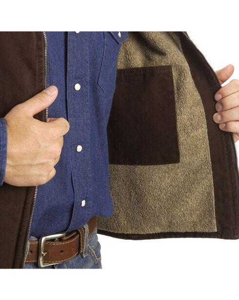 Carhartt Sandstone Duck Work Vest, Dark Brown, hi-res