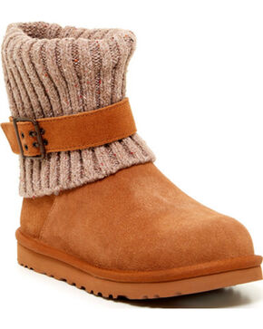 UGG Women's Chestnut Cambridge Short Boots - Round Toe , Chestnut, hi-res