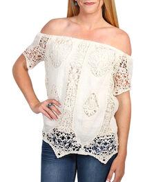 Say What Women's Crochet Lace Off The Shoulder Top, , hi-res