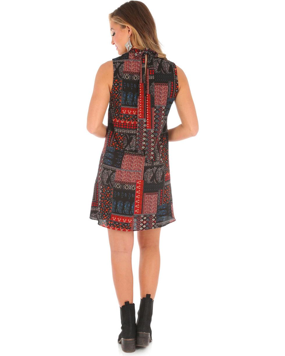 Wrangler Women's Sleeveless High Collar Print Dress, , hi-res