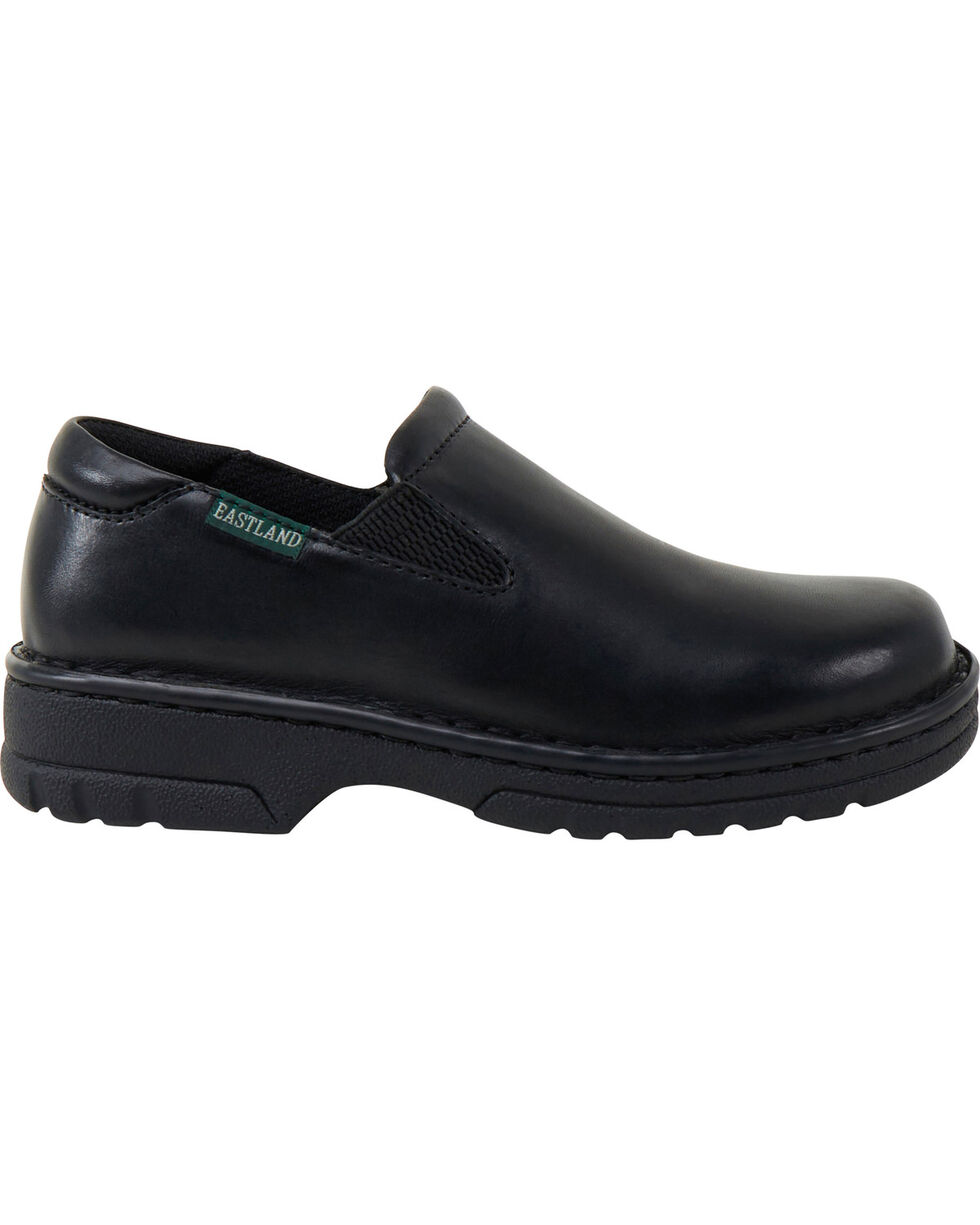 Eastland Women's Black Newport Slip-Ons , Black, hi-res