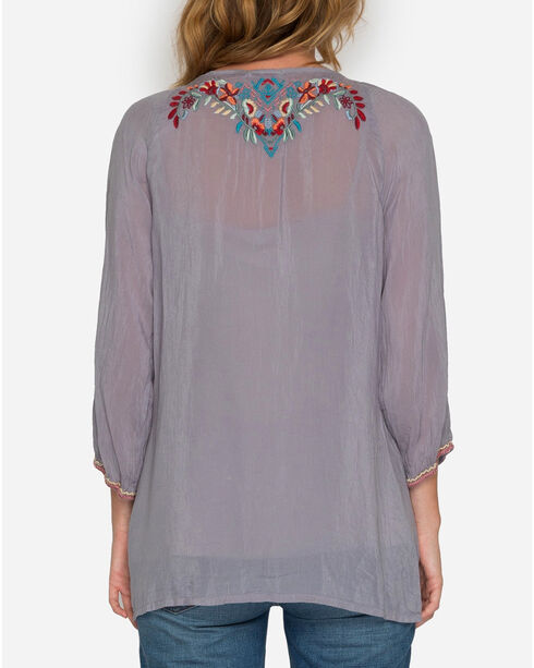 Johnny Was Women's Dolora Embroidered Blouse, Light/pastel Purple, hi-res