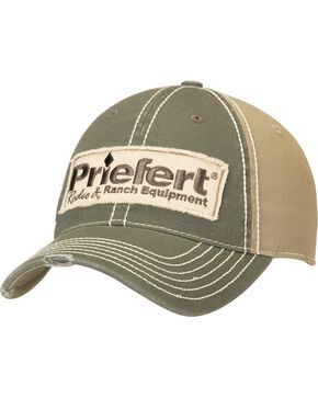 Priefert Logo Patch Casual Cap, Grey, hi-res