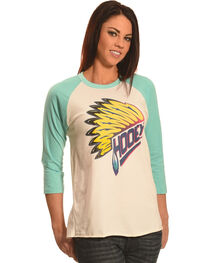 Hooey Women's Indian Feather Baseball T-Shirt, , hi-res