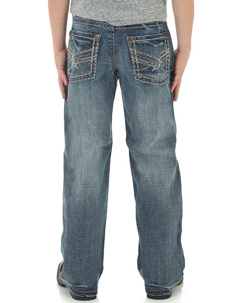Wrangler Boys' Relaxed Fit Boot Cut Jeans, Blue, hi-res