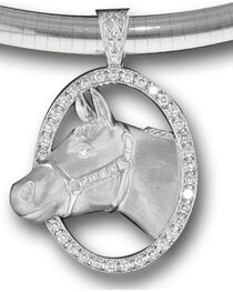 Kelly Herd Women's Sterling Silver Halter Horse Necklace, , hi-res