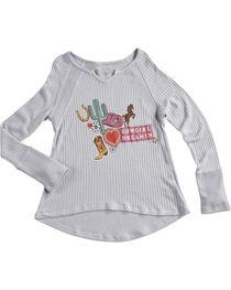 Shyanne Girls' Cowgirl Dreamin Long Sleeve Knit Shirt, , hi-res