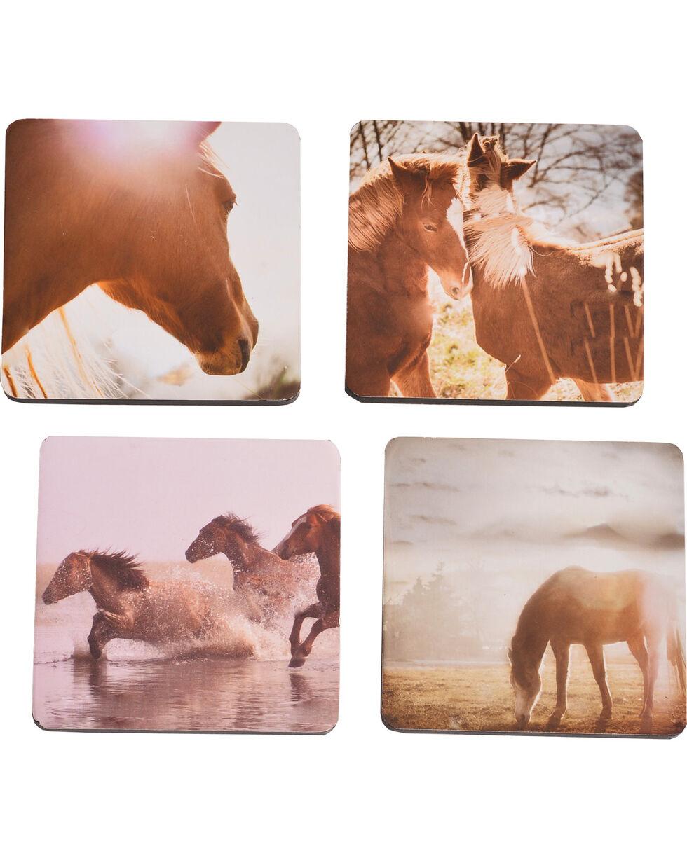 BB Ranch Printed Horse Coasters, No Color, hi-res