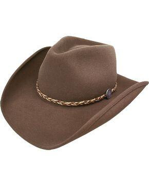 Stetson Rawhide 3XXX Crushable Buffalo Fur Felt Hat, Mink, hi-res