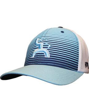 HOOey Men's Golf Long Drive Flex Mesh Hat, Light/pastel Blue, hi-res