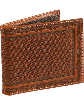 Cody James Men's Basketweave Embossed Wallet, Brown, hi-res