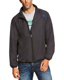 Ariat Men's Black Ideal Windbreaker Jacket, , hi-res