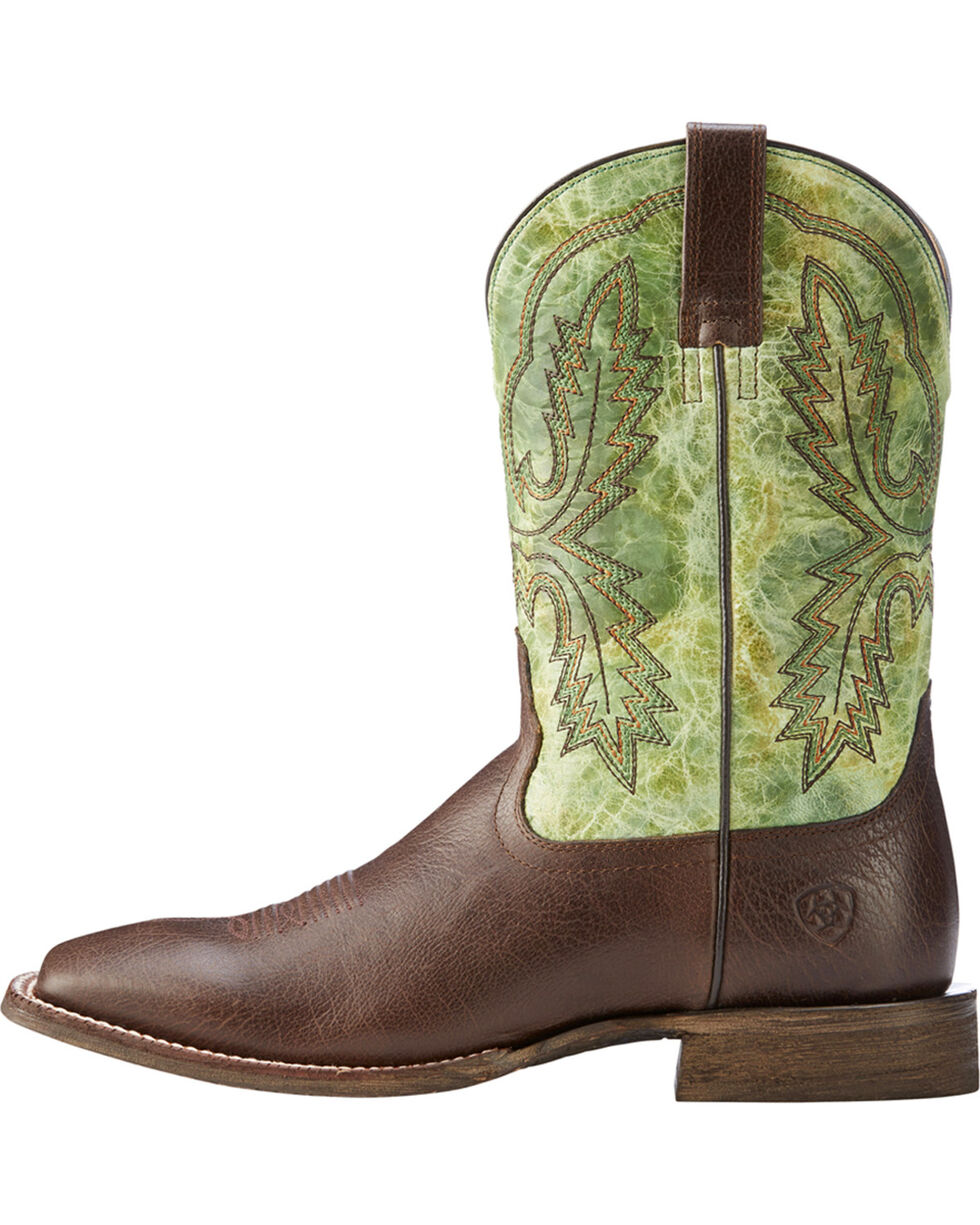 Ariat Men's Dark Brown Circuit Dayworker Western Boots - Square Toe , Dark Brown, hi-res